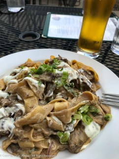 Beef Stroganoff. This is a dish I will try almost anywhere.