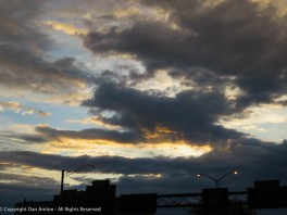For a while, it looked like the sun was going to push those clouds aside.