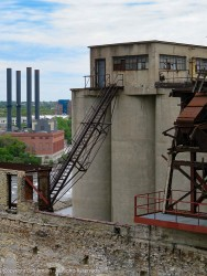 Those silos would hold the grain that would be processed in the various stages of the mill.