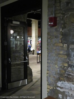 The door to the museum exhibition hall.