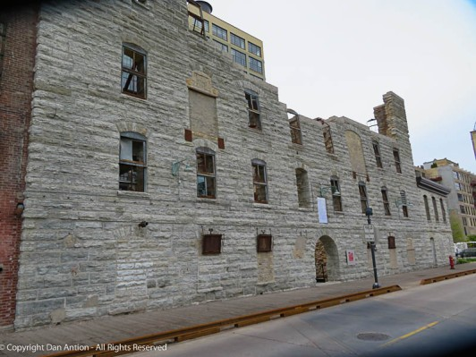 A couple of ghost doors in the ruins of the flour mill in Minneapolis, MN.