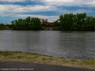 The Connecticut River is back in its banks, but just barely.