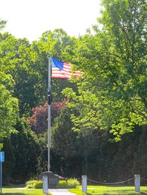 The flag at Veterans Park was flying proud on Memorial Day.