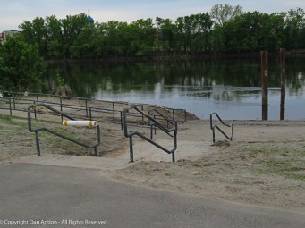 The water is almost down to the lever where they can install the boat dock.