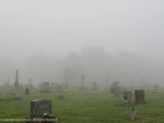 This is a small cemetery, but I can't see to the end of it.