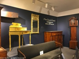 Some of the furniture in the cabinetmaking exhibit.
