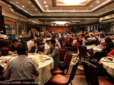 This is about half the seating area of the Dim Sum restaurant. I don't think I've ever been in a bigger dining room.