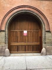 That is a door. It opens like a garage door.