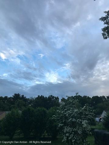 It's a beautiful sky, but it's still cloudy.