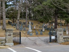 In between the Robbins house and the Emerson house is the old burial ground.