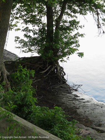 A lot of erosion occurred in two months of flooding.