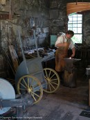 The Blacksmith explained that he would have mainly repaired tools. By the 1830s, tools and farm implements were being mass-produced in mills in Connecticut and western Massachusetts.