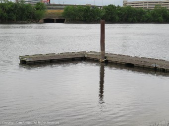 The dock at Great River Park.