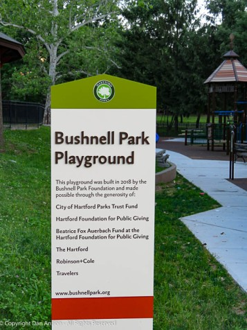 A lot of community effort went into building this wonderful playground.