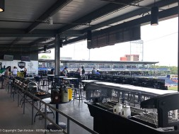 The party deck opens for lunch an hour before the game starts.