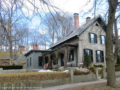 Just outside of Monument Square sits this lovely old stone house.
