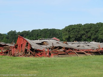 One of the nearby tobacco farms is tearing down a lot of their barns. They are too expensive to maintain. That was a door.