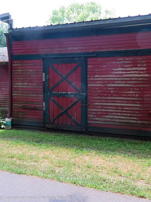 Red barn doors speak for themselves.