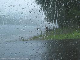 The rain has arrived.