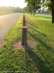 I think they lined up the fence posts pretty well.