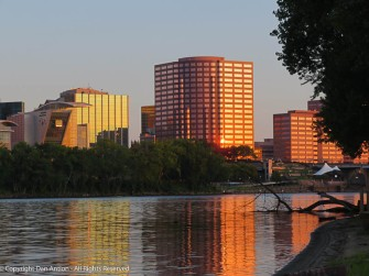 Great River Park as Hartford is waking up.