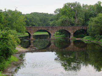 My favorite bridge. The stone arch bridge over the Farmington River in Windsor, CT. The river is very low.
