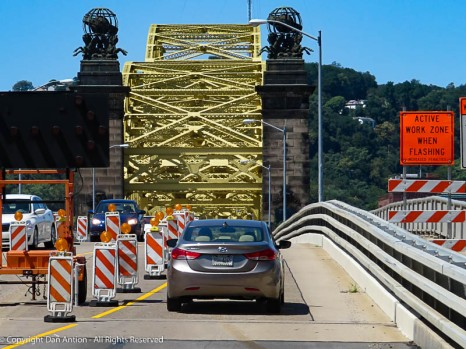 The 16th St, bridge in Pittsburgh. We decided to cross at a different point.