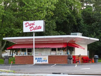 I know, there isn't a visible door, but there has to be one and, you know, ice cream. We had a Dari Delite in the small town I grew up in.