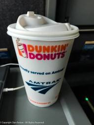 It doesn't get any better than this, Power, WiFi and Dunkin' Donuts coffee.