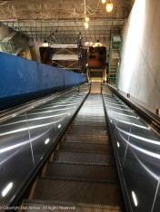 This would give The Editor pause. A long escalator under and through scaffolding.
