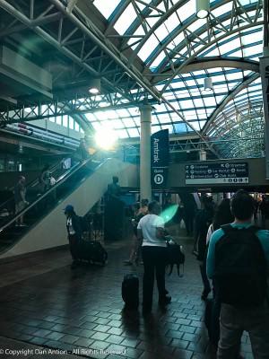 Inside Washington's Union Station.