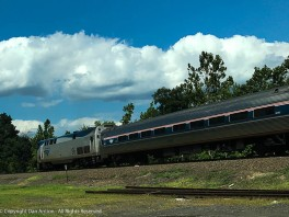 That's the Vermonter, heading north from my home station. It's 6 ½ hours to St. Albans, VT from here.