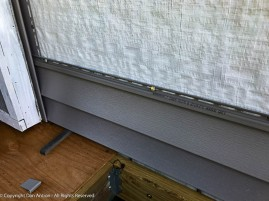 The key measurement is to make sure the decking will fit under the siding. That piece of decking was trimmed to allow for the thickness of the plywood.