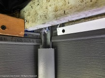 The soffit will sit below the top course of siding, but I need a flat base for the support channel.