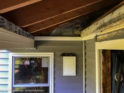 The PVC trim strips will support the J-Channel for the soffit.