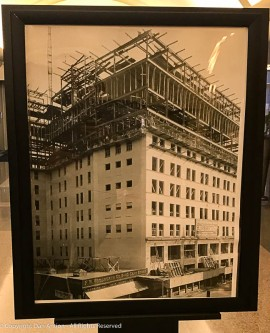 The G Fox main building going up in 1918.