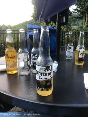My brother brought Corona. I wonder how he knew?