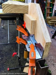 "I have ""stop"" for cutting identical pieces, but it's for woodworking. This job required something a bit more heavy duty."