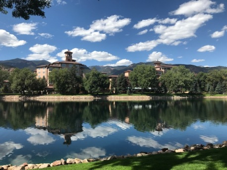 The Broadmoor is located in a beautiful location.