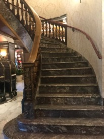 Staircase inside the main building at the Broadmoor.
