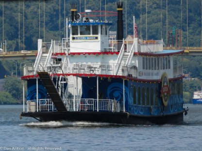The 3 Rivers Queen coming toward us on the Monongahela River.