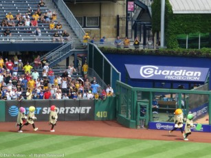 The end of the Pirogi Race at PNC Park.