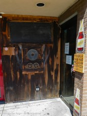 Mexican food and beverages lie behind these doors.