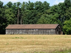 You've seen this barn before in a post I did about graffiti-doors, but the vent slats were closed.
