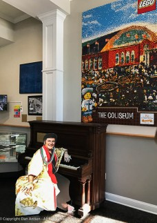 Liberace performed at the Big-E- The Lego poster is actually made from individual Legos.