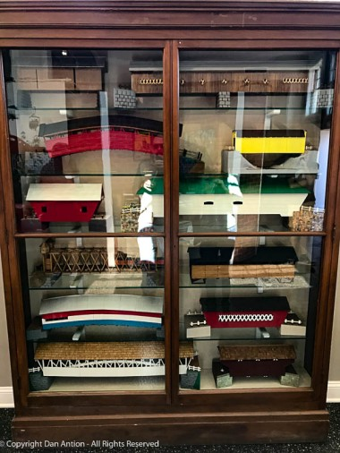 A history of bridges on display at the Big-E's museum.