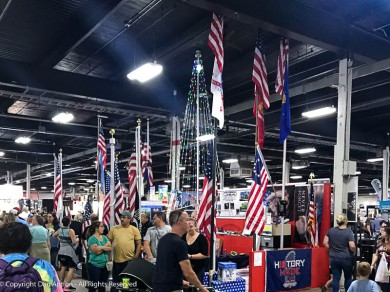 You wouldn't think a large scale agricultural fair would be a place where people would buy flagpoles, but we saw people walking around with them.