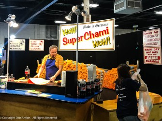 Every year. He will sell those super absorbent rags before the show is over for the day. Well, they are made in Germany, so...