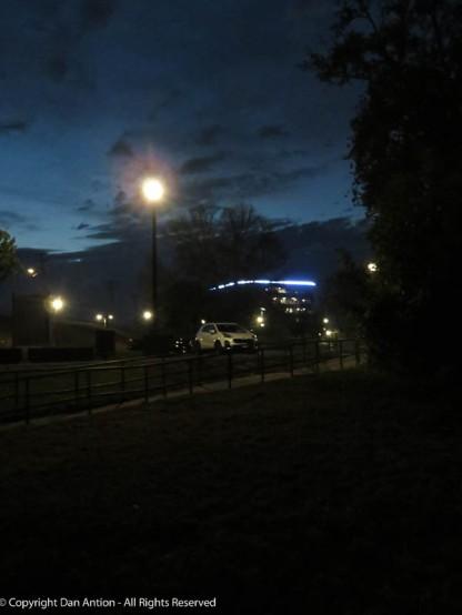 Dark in the park.