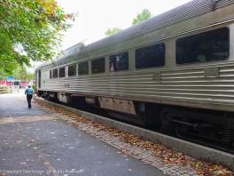 The railroad car on display.
